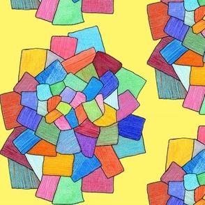 crystalline on yellow