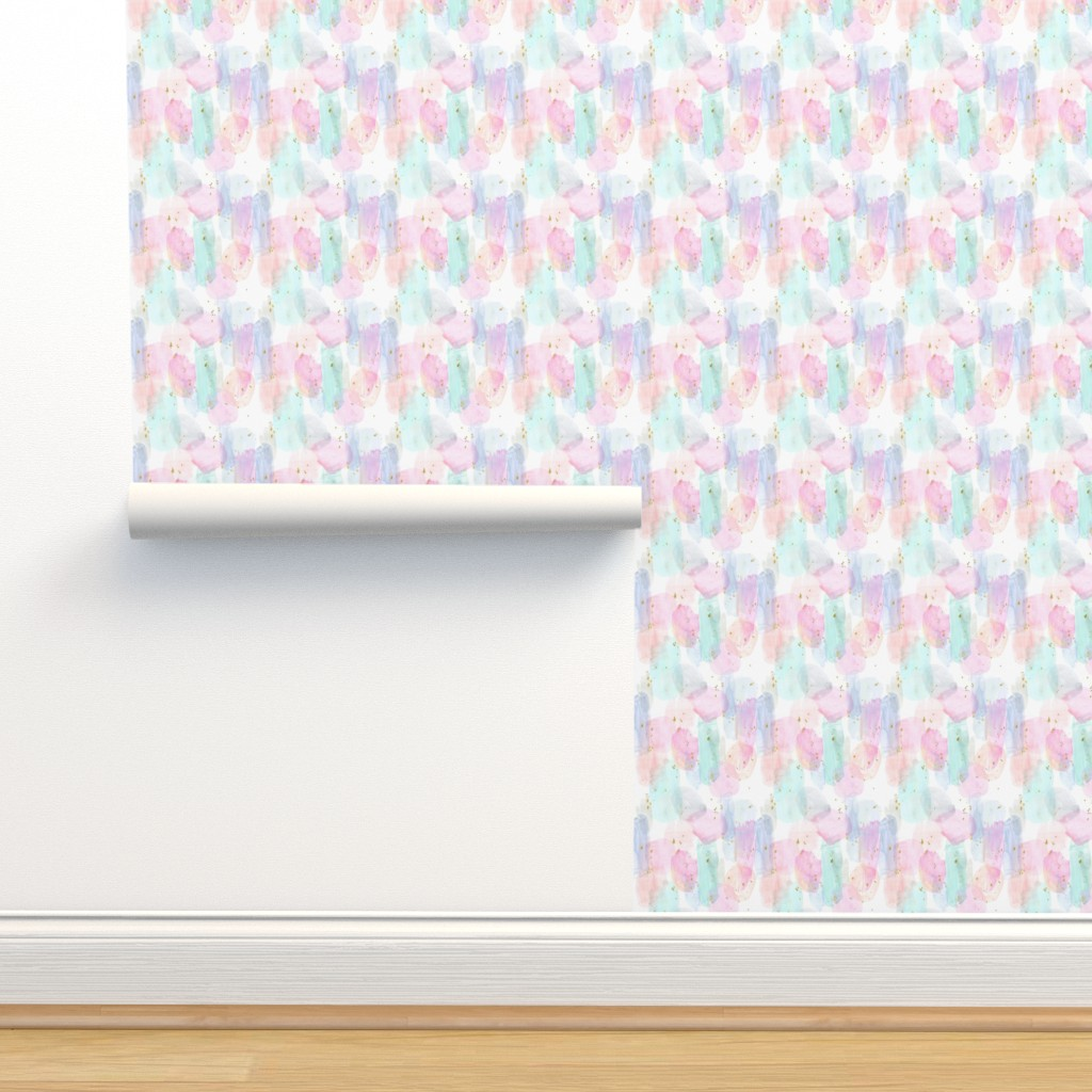 Isobar Durable Wallpaper featuring Rainbow-Stars-Watercolor-Abstract_Small by crystal_walen