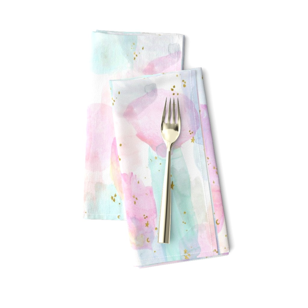 Amarela Dinner Napkins featuring Rainbow-Stars-Watercolor-Abstract_Small by crystal_walen