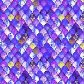 SMALL Purple + Gold Mermaid or Dragon Scales by Su_G_©SuSchaefer