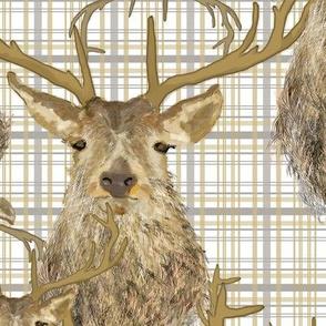 Stag Deer Plaid