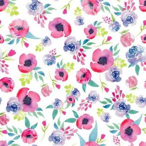 Bright Watercolor Floral Boho Spring Summer Floral
