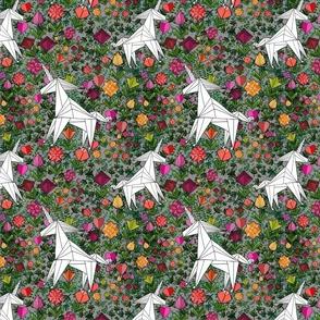 Origami Unicorn Garden