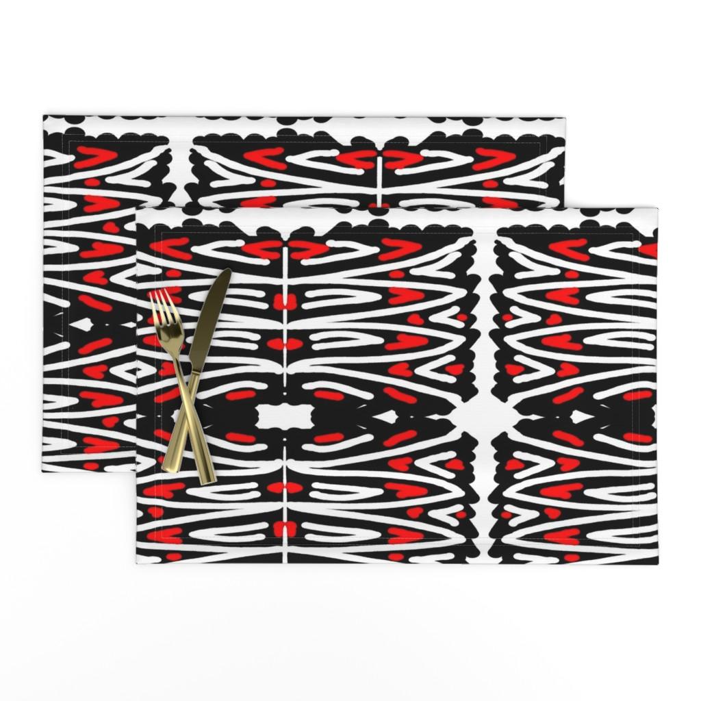 Lamona Cloth Placemats featuring Haba Jiri 12 by tabasamu_design