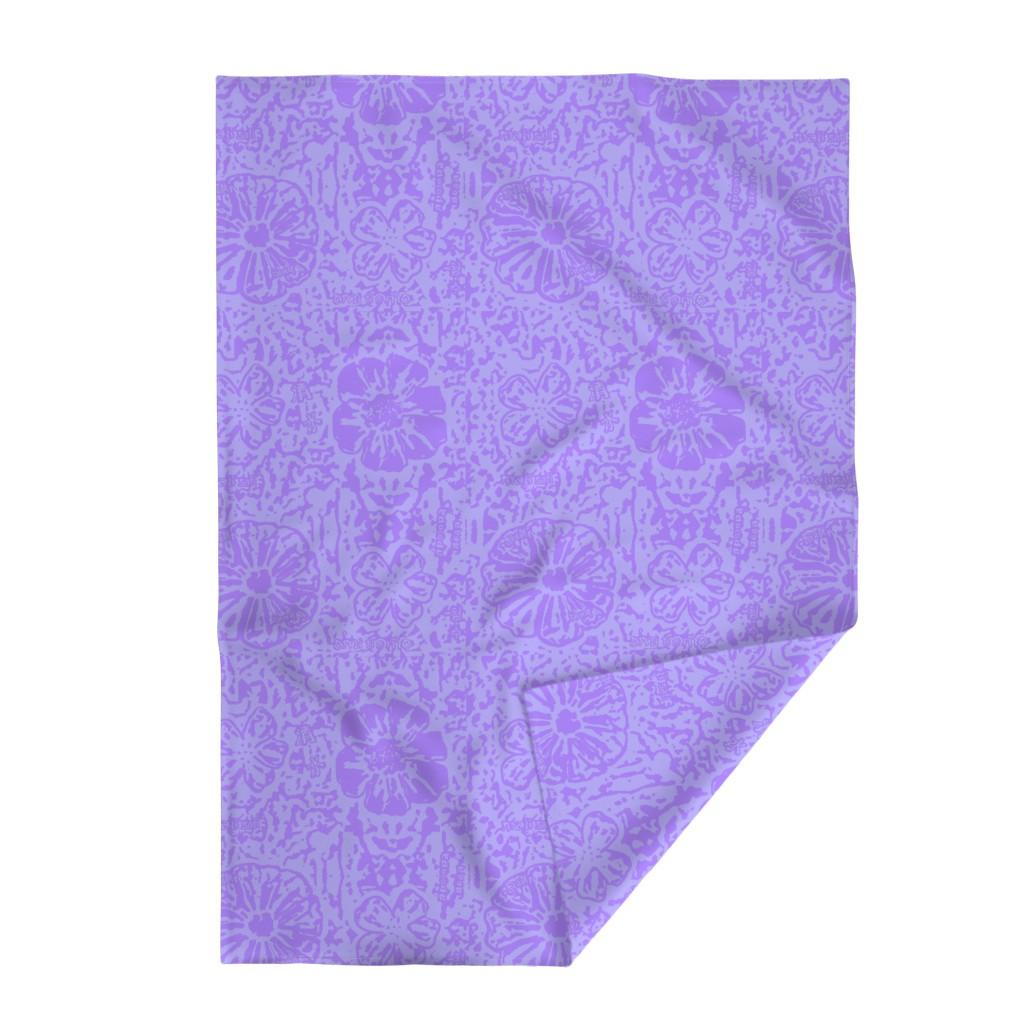 Lakenvelder Throw Blanket featuring Violet Lace Batik by clearwaterzstudio