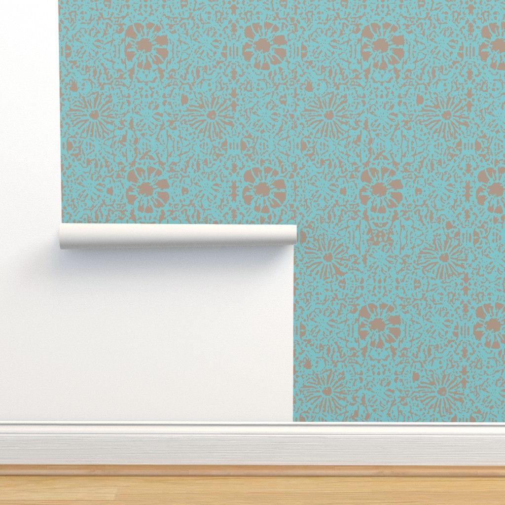 Isobar Durable Wallpaper featuring spr2 Lace Batik by clearwaterszendenstudio