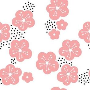 Sweet minimal style cherry blossom spring summer design soft pink