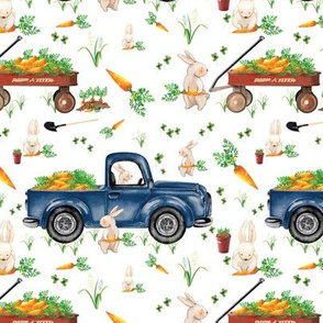 Boy Easter Bunny Trucks and Wagons 6x6