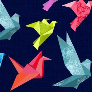 Origami Birds In flight plain large