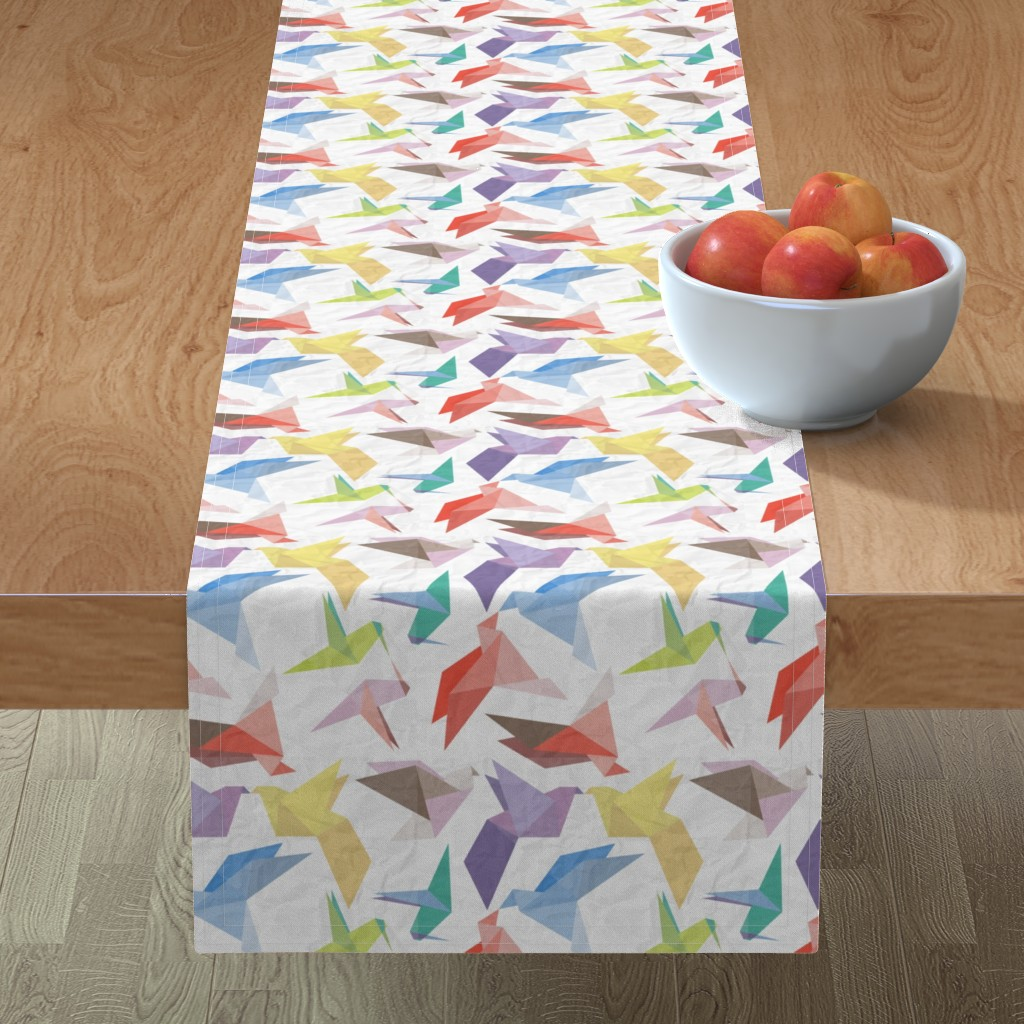 Minorca Table Runner featuring Lovebirds of origami paper by veerapfaffli