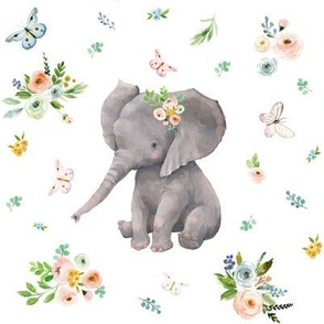 """8"""" Spring Time Baby Elephant"""