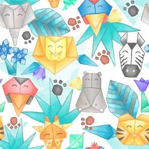 Origami Jungle Pals