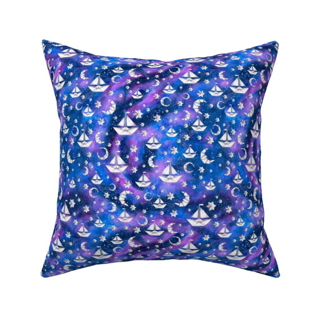 Catalan Throw Pillow featuring Sail Me to the Moon by gingerlique