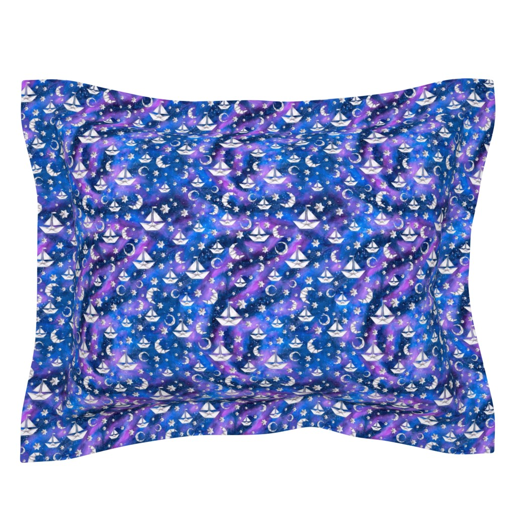 Sebright Pillow Sham featuring Sail Me to the Moon by gingerlique
