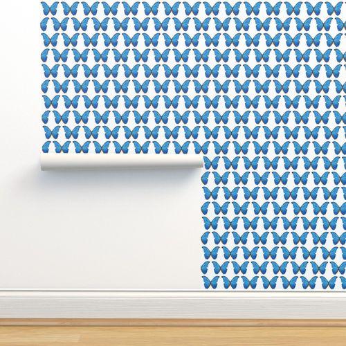 Wallpaper Blue Morpho Butterfly