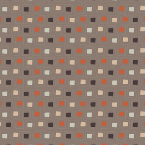 Tiny Pattern Squares Neutral Dark