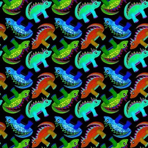 Dino Boys Black (Red, Blue & Green)