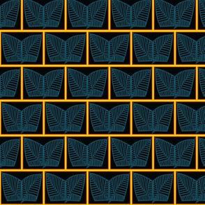 Egyptian Lotus ( blue on black)