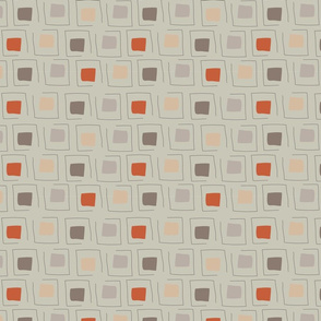 Tiny Pattern Squares Neutral Pale Green