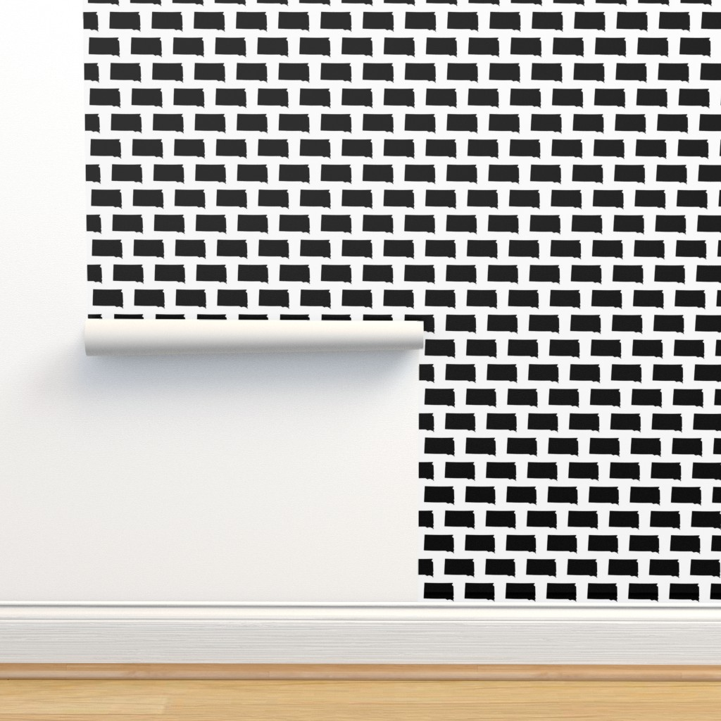 Isobar Durable Wallpaper featuring South Dakota // Small by thinlinetextiles