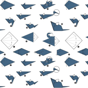 Origami Mouse - Dark Blue
