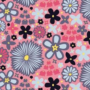 Floral Party Dress (Light Pink)