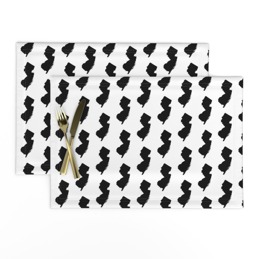 Lamona Cloth Placemats featuring New Jersey // Small by thinlinetextiles