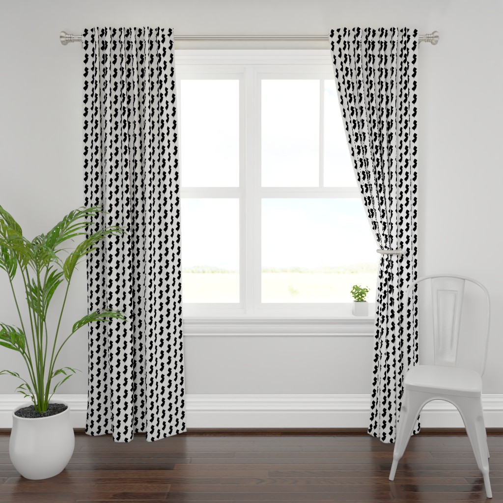 Plymouth Curtain Panel featuring New Jersey // Small by thinlinetextiles