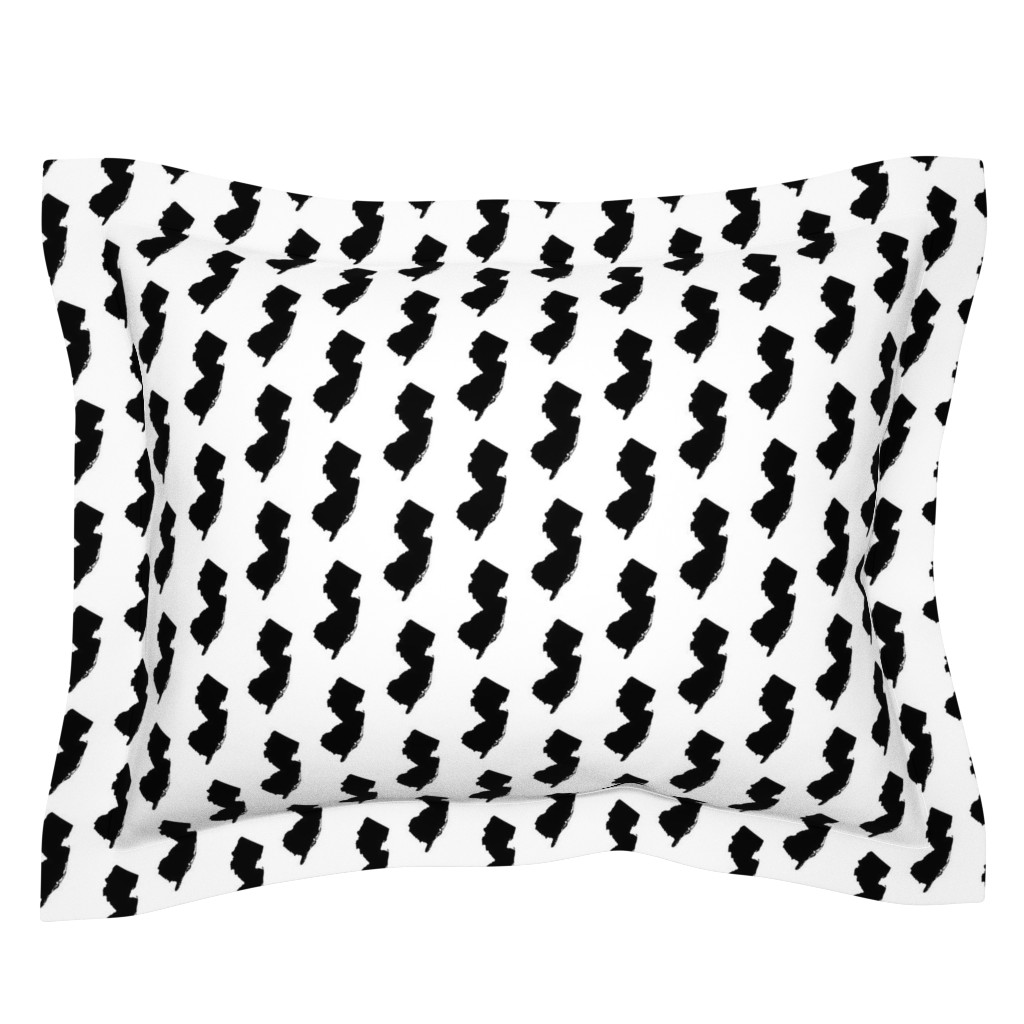 Sebright Pillow Sham featuring New Jersey // Small by thinlinetextiles