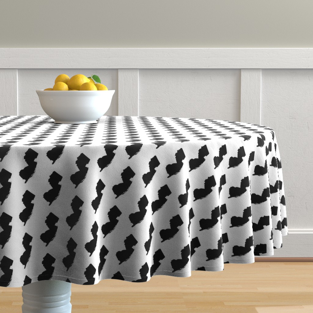 Malay Round Tablecloth featuring New Jersey // Small by thinlinetextiles