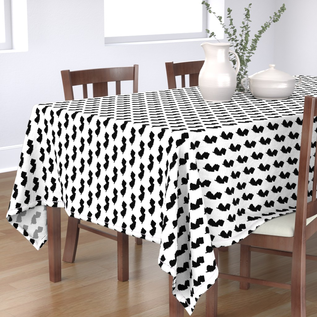 Bantam Rectangular Tablecloth featuring New Jersey // Small by thinlinetextiles