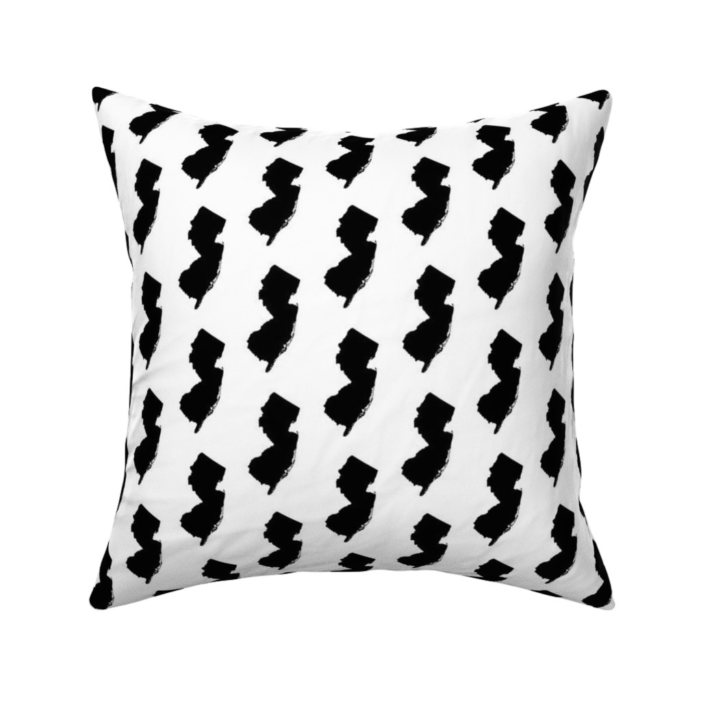 Catalan Throw Pillow featuring New Jersey // Small by thinlinetextiles