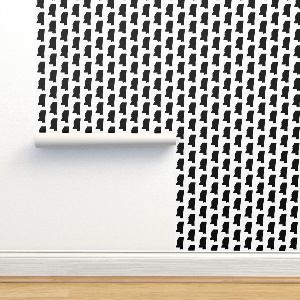 Isobar Durable Wallpaper featuring Mississippi // Small by thinlinetextiles