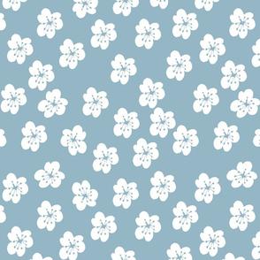 White Lillies On Turquoise