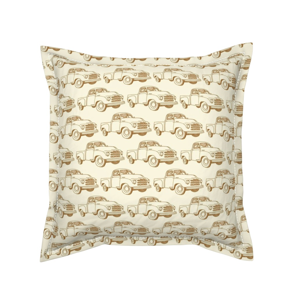 Serama Throw Pillow featuring Nifty Fifties 1951 Studebaker Truck by edsel2084