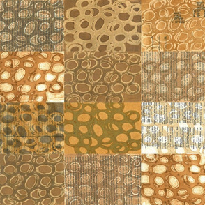 Brown Circle Grid