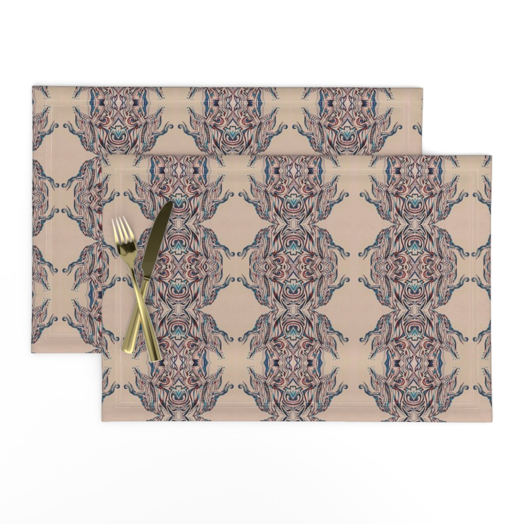 Lamona Cloth Placemats featuring PINK CREME by amaizink_art