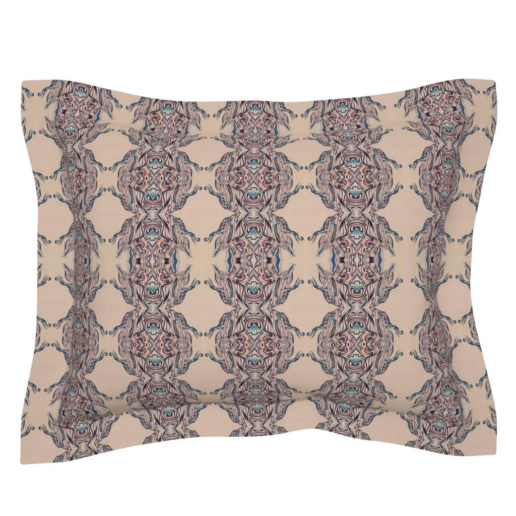 Sebright Pillow Sham featuring PINK CREME by amaizink_art