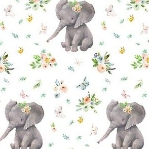 "4""  Spring Time Baby Elephant"