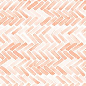 Pale blush watercolor herringbone 90 deg