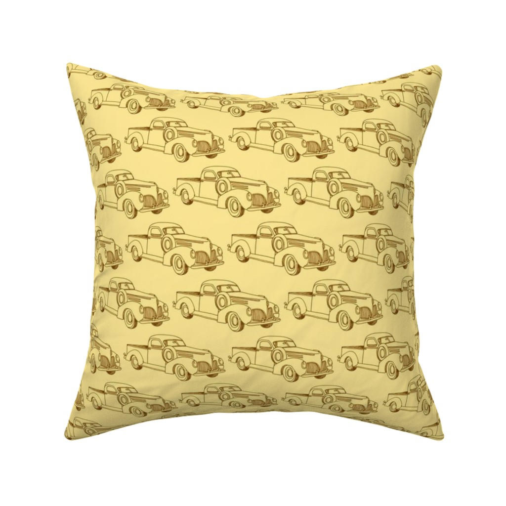 Catalan Throw Pillow featuring 1939 Studebaker Coupe Express truck by edsel2084
