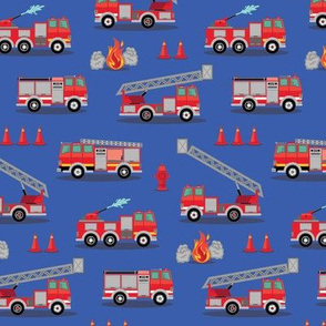 Fire Engine Scatter - Blue