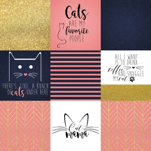 """6"""" #CatMom Faux Quilt"""
