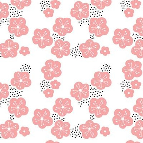 Happy spring sweet minimal style cherry blossom spring summer design soft pink SMALL