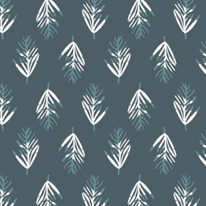 graphic jungle leaves