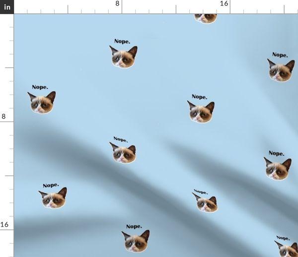 cca2fe10b705 nope-grumpy cat underwear panel - Spoonflower