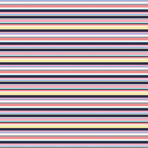Stripes in pastels with navy - small