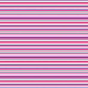 Stripes in pinks and purples with aqua
