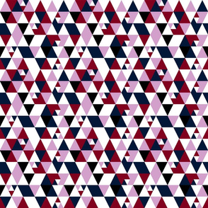 Orchid _ Navy Geometry