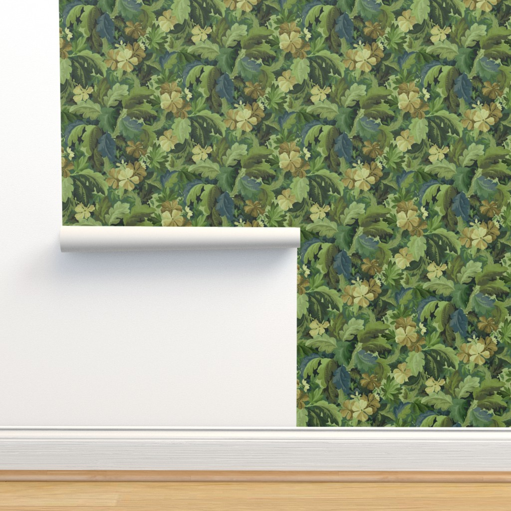 Isobar Durable Wallpaper featuring Tapestry Forest by littlerhodydesign